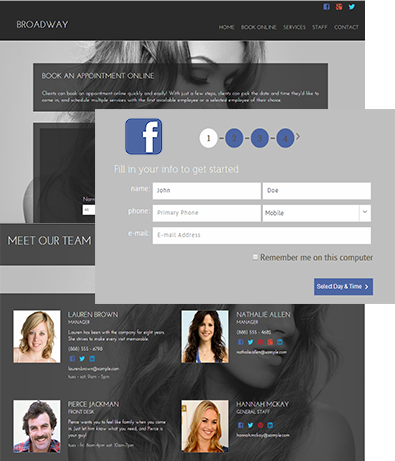 powerful online booking for salons and spas